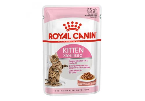 Корм влажный Royal Canin Kitten Sterilised (в соусе) для стерилизованных котят 85г