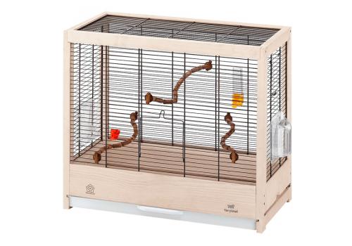 Клетка для птиц Ferplast GIULIETTA 4 NERA, деревянная, 57х30х50см