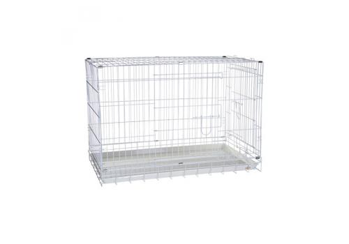 Клетка для собак Kredo 043C CROME хромированная, с пластмассовым поддоном, 92,5*56,5*63,5см