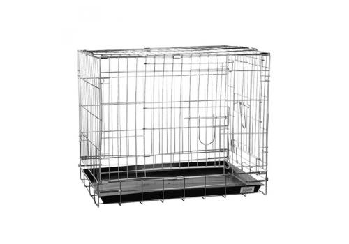 Клетка для собак Kredo 041C CROME с гальв. покрытием, с пластмассовым поддоном, 61*44*50