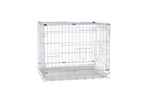Клетка для собак Kredo 041C CROME с гальв. покрытием, с пластмассовым поддоном, 61,5*43,5*50