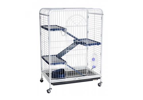 Клетка Kredo D800 для шиншилл и хорьков, 3-х этажная, на колесах