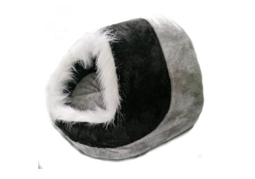 Лежак-укрытие Lilli Pet WINTER TIME для животных, черный/серый