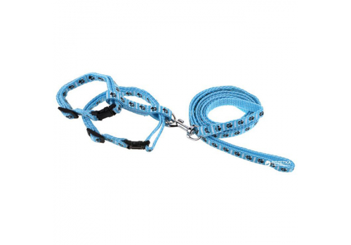 Шлейка для кошек Lilli Pet М 18-28см, голубой