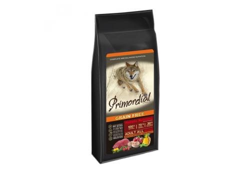 Корм Primordial для собак, беззерновой, буйвол/скумбрия 400г