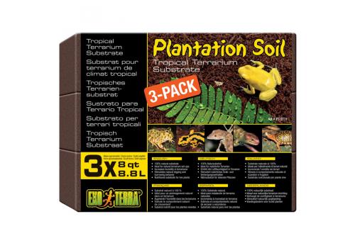 Кокосовая крошка Exo Terra Plantation Soil, 3 х 8.8л