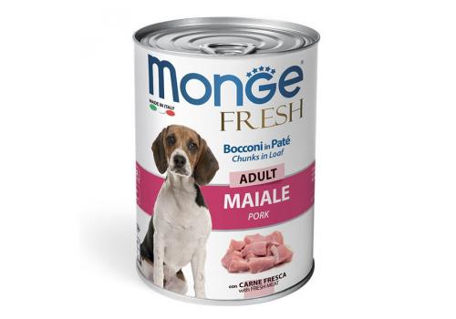 Консервы Monge Dog Fresh Chunks in Loaf мясной рулет из свинины, 400г