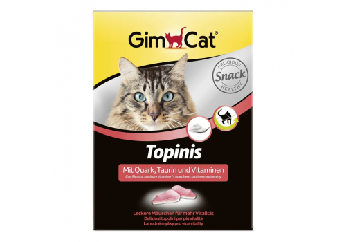 Витамины GimCat Мышки с творогом, таурином и витаминами, 1шт