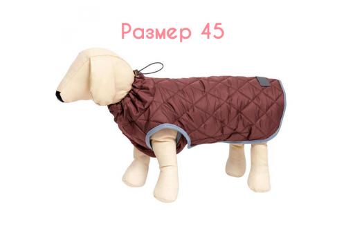 Жилет теплый OSSO Fashion Стежка, коричневый, размер 45