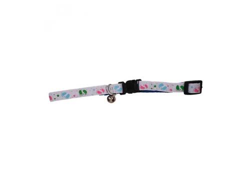 Ошейник для кошек Lilli Pet Cat Collar, 10 мм 18-30 см, белый