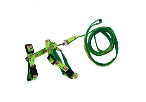 Шлейка для кошек Lilli Pet М 18-28см, зеленая