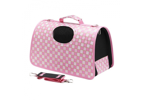 Переноска Lilli Pet City S для собак, 36х18х24см., розовая