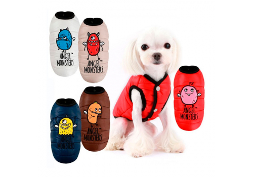 "Куртка-жилет ""Монстрик"" на меху Puppy Angel PA-OW 355, красная, размер L"