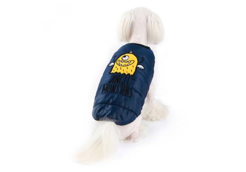 "Куртка-жилет ""Монстрик"" на меху Puppy Angel PA-OW 355, синяя, размер L"