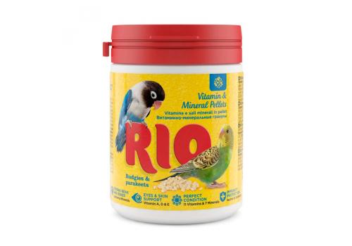 Витаминно-минеральные гранулы RIO для волнистых и средних попугаев, 120г