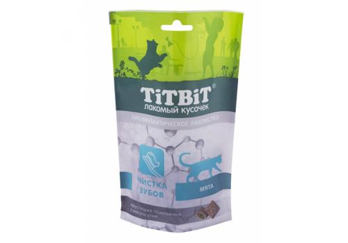 Лакомство TitBit Хрустящие подушечки д/кошек с мясом утки для чистки зубов  60г