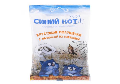 Лакомство TitBit Хрустящие подушечки д/кошек с начинкой из говядины 30г