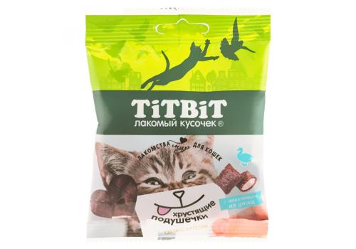 Лакомство TitBit Хрустящие подушечки д/кошек с паштетом из утки 30г