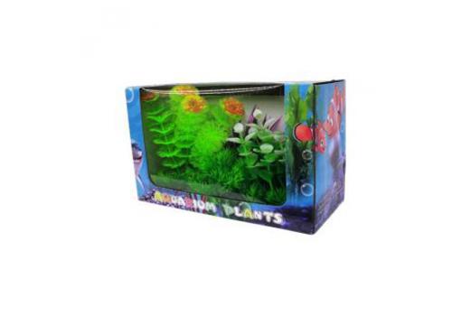 Композиция пластиковых растений YM-0101, голубая коробка