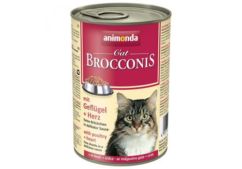 Консервы Animonda Brocconis Cat для кошек с домашней птицей и сердцем, 400г