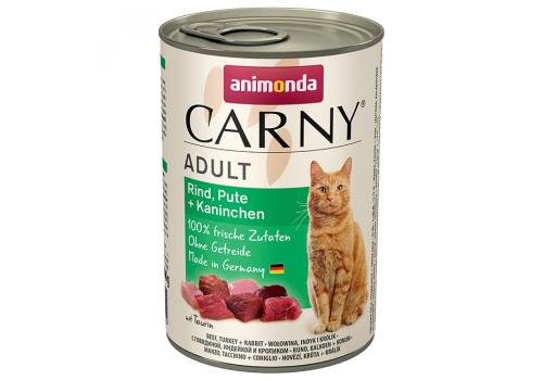 Консервы Animonda Carny Adult для кошек, с говядиной, индейкой и кроликом 400г