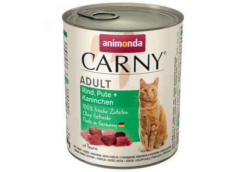 Консервы Animonda Carny Adult для кошек, с говядиной, индейкой и кроликом 800г