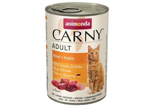 Консервы Animonda Carny Adult для кошек, с говядиной и курицей 400г