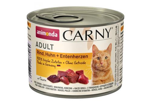 Консервы Animonda Carny Adult для кошек, с говядиной, курицей и уткой 200г