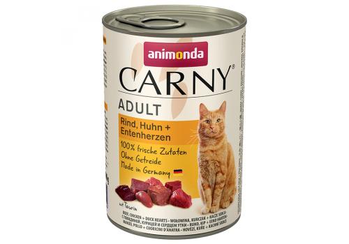 Консервы Animonda Carny Adult для кошек, с говядиной, курицей и уткой 400г