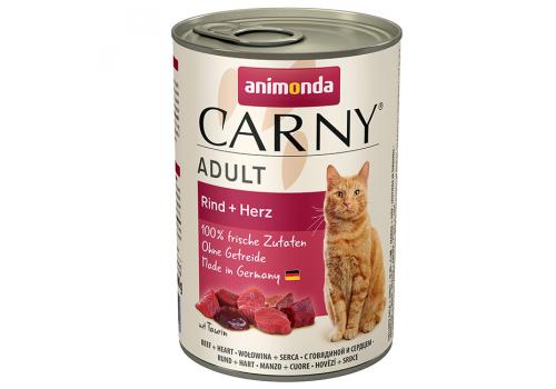 Консервы Animonda Carny Adult для кошек, с говядиной и сердцем 400г