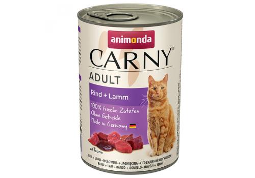 Консервы Animonda Carny Adult для кошек, с говядиной и ягненком 400г