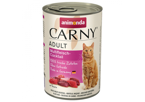 Консервы Animonda Carny Adult для кошек, коктейль из разных сортов мяса 400г