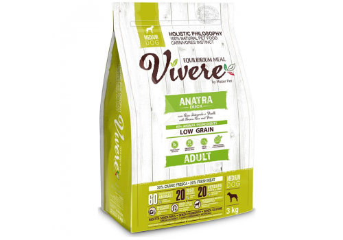 Корм Vivere Утка для собак средних пород 3кг