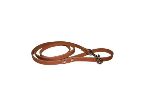 Поводок кожаный 11 Коньячный (Аркон)