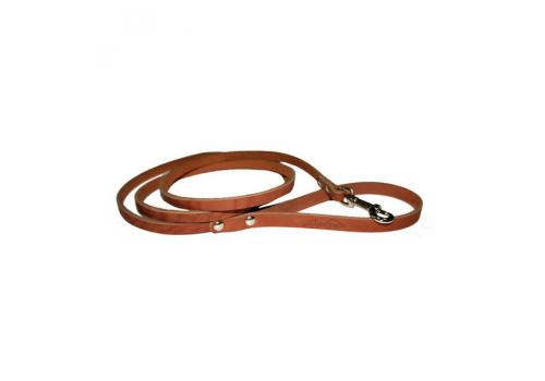Поводок кожаный 8 Коньячный (Аркон)
