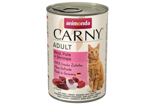 Консервы Animonda Carny Adult для кошек, с говядиной, индейкой и креветками 400г