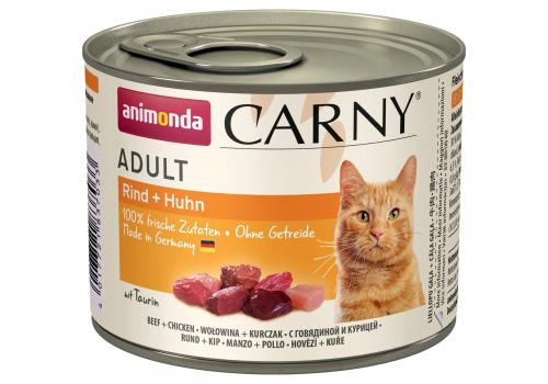 Консервы Animonda Carny Adult для кошек, с говядиной и курицей 200г