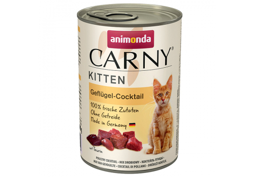 Консервы Animonda Carny Kitten для котят, коктейль из мяса птицы 400г