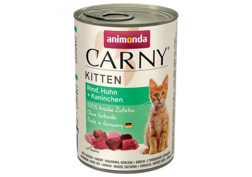 Консервы Animonda Carny Kitten для котят, с говядиной, курицей и кроликом 400г