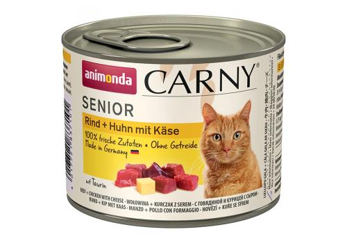 Консервы Animonda Carny Senior для пожилых кошек, с говядиной, курицей и сыром 200г