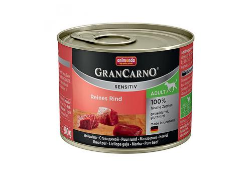 Консервы Animonda Gran Carno Sensitiv для собак, с говядиной 200г