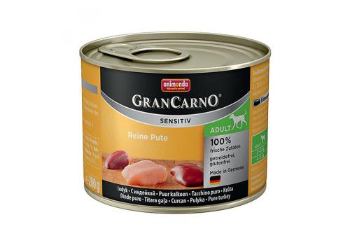 Консервы Animonda Gran Carno Sensitiv для собак, с индейкой 200г