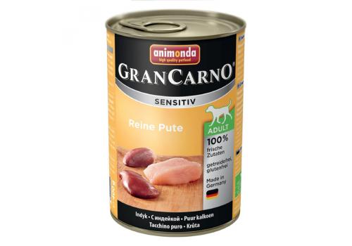 Консервы Animonda Gran Carno Sensitiv для собак, с индейкой 400г