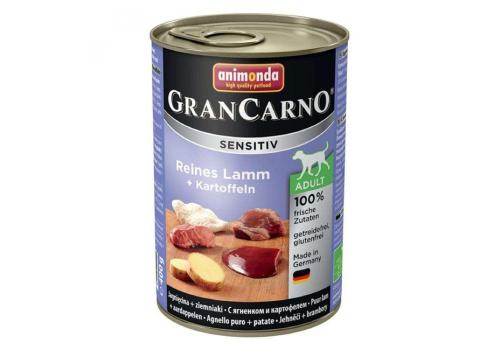 Консервы Animonda Gran Carno Sensitiv для собак, с ягненком и картофелем 400г