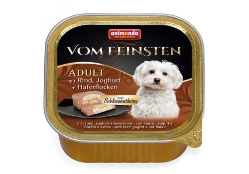 Консервы Animonda Vom Feinsten Adult для собак, с говядиной, йогуртом и хлопьями 150г