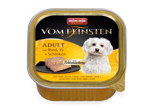 Консервы Animonda Vom Feinsten Adult для собак, с говядиной, яйцом и ветчиной 150г
