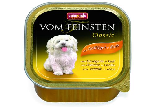 Консервы Animonda Vom Feinsten Classic для собак, с мясом дом. птицы и телятиной 100г