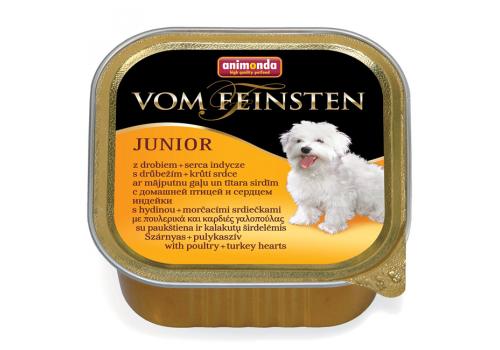 Консервы Animonda Vom Feinsten Junior корм для щенков, мясо дом. птицы и сердце индейки, 150г