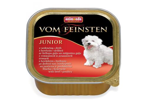 Консервы Animonda Vom Feinsten Junior корм для щенков, с говядиной и мясом дом. птицы, 150г