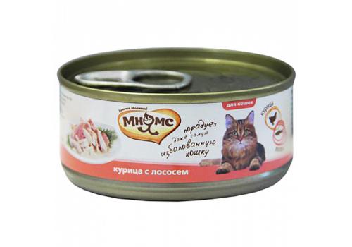 Консервы Мнямс для кошек Курица с лососем  в нежном желе 70г